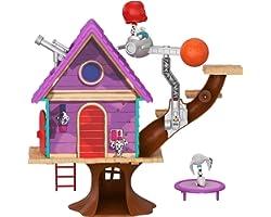 Disney 101 Dalmatian Street Casita del árbol de Dylan con accesorios, juguete niños +5 años (Mattel GDL88) , color/modelo sur