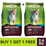Meat Up Kitten Cat Food, 1.2 kg (Buy 1 GET 1 Free)