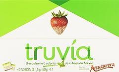 Truvia Endulzante 0 Calorías de La Hoja de Stevia, 40 Sobres