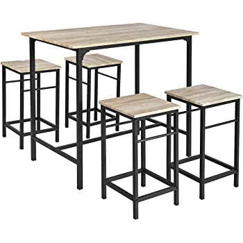 Gr8 Home High Counter Bar Set 5 Piece Breakfast Table And Chairs