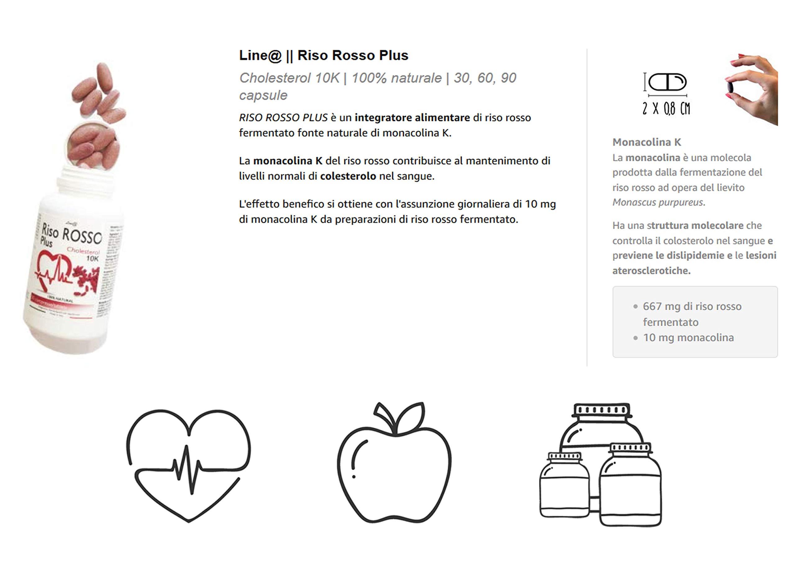 riso rosso fermentato monacolina k 10 mg