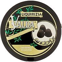 Valda Caramelle per La Gola, Pastiglie Gommose Balsamiche, al Gusto Liquirizia, con Granelli di Zucchero, Profumano L…
