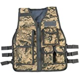 Dilwe Tactical Vest, Nylon Kids Molle Training Vest with Multiple Pouches for Children Playing Game CS Field Combat Security