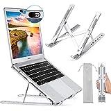 Foonii Laptopstandaard, opvouwbare aluminium laptopstandaard, draagbaar, in hoogte verstelbaar, geventileerd notebook-standaa