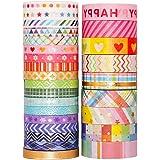 YUBX Or Washi Tape Set 27 Rouleaux Masking Tape Ruban adhesif decoratif pour Scrapbooking Artisanat de Bricolage 8MM/15MM de