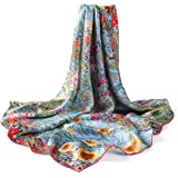 prettystern seta foulard donna con stampa Art Nouveau Gustav Klimt 90cm Quadrato