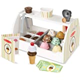 Melissa & Doug Wooden Ice Cream Counter | Pretend Play | Play Food | 3+ | Gift for Boy or Girl