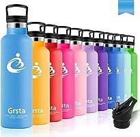 Grsta Bouteille d'eau de Sport 600ml/800ml/1000ml/1200ml - sans bpa & Anti Fuite, respectueux de l'environnement,...