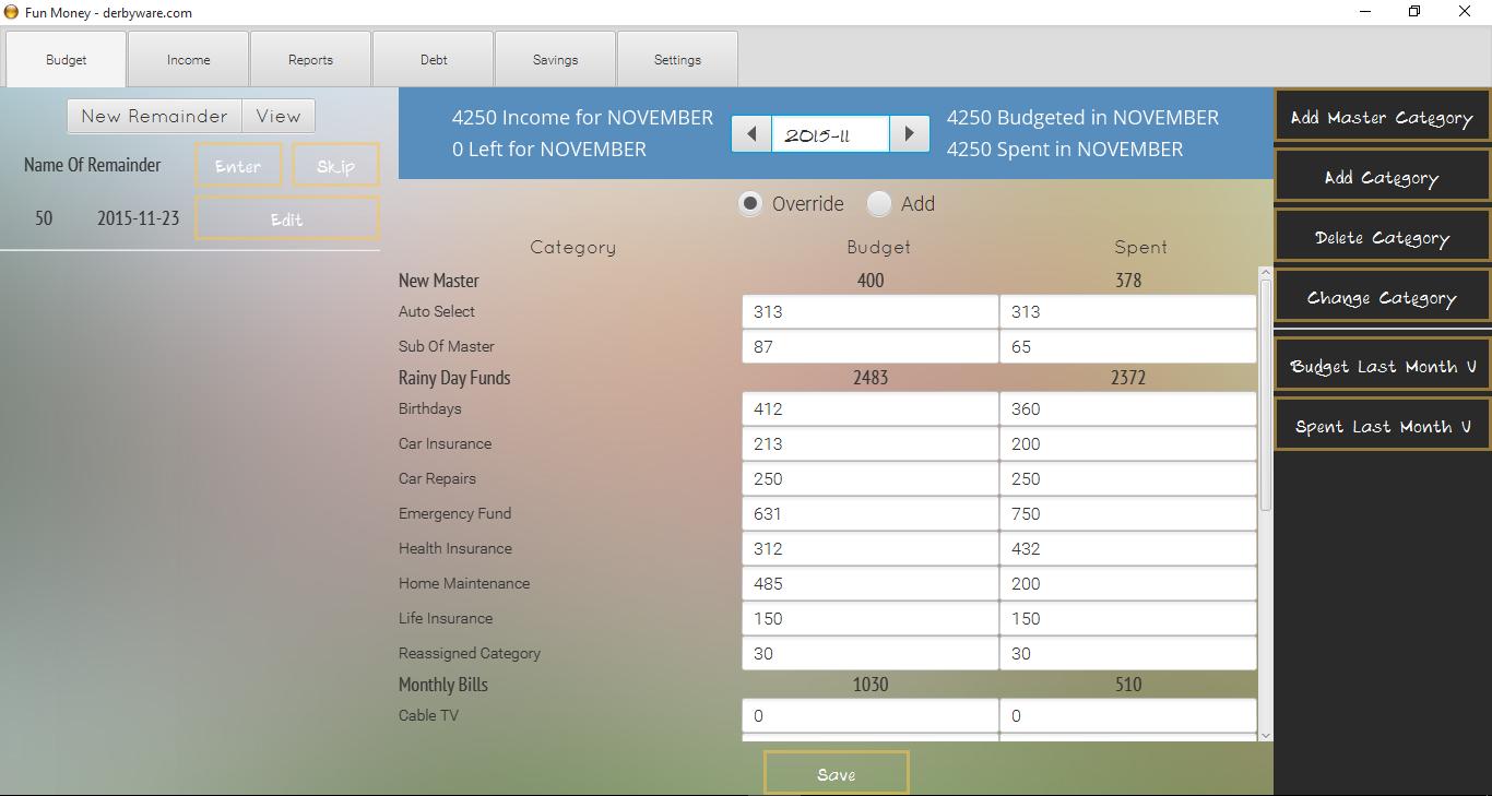 Fun Money persönliche Finanzen Software - Windows [Download]