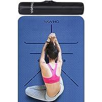 Tappetino Yoga Tappetino per Il Fitness Tappetino per Esercizi TPE Materiale Ecologico,Specifiche 183 cm X 66 cm,6 mm di…