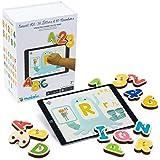 Marbotic - Smart Kit pour Tablettes iPad ou Samsung - De 3 à 5 Ans - Lettres Alphabet & Chiffres Interactifs en Bois - Jeu éd