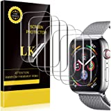 LK 6 Pack Screen Protector Compatible with Apple Watch 42mm Series 3 Series 2 Series 1, Model NO.KO4721 Japanese Material, Bu