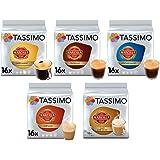 Tassimo Café Marcilla Café Selección - Marcilla Café con Leche/Cortado/Espresso/Café Largo/Espresso Descafeinado Cápsulas de