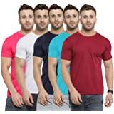 AWG ALL WEATHER GEAR Men's Regular Fit T Shirt (Pack of 5)