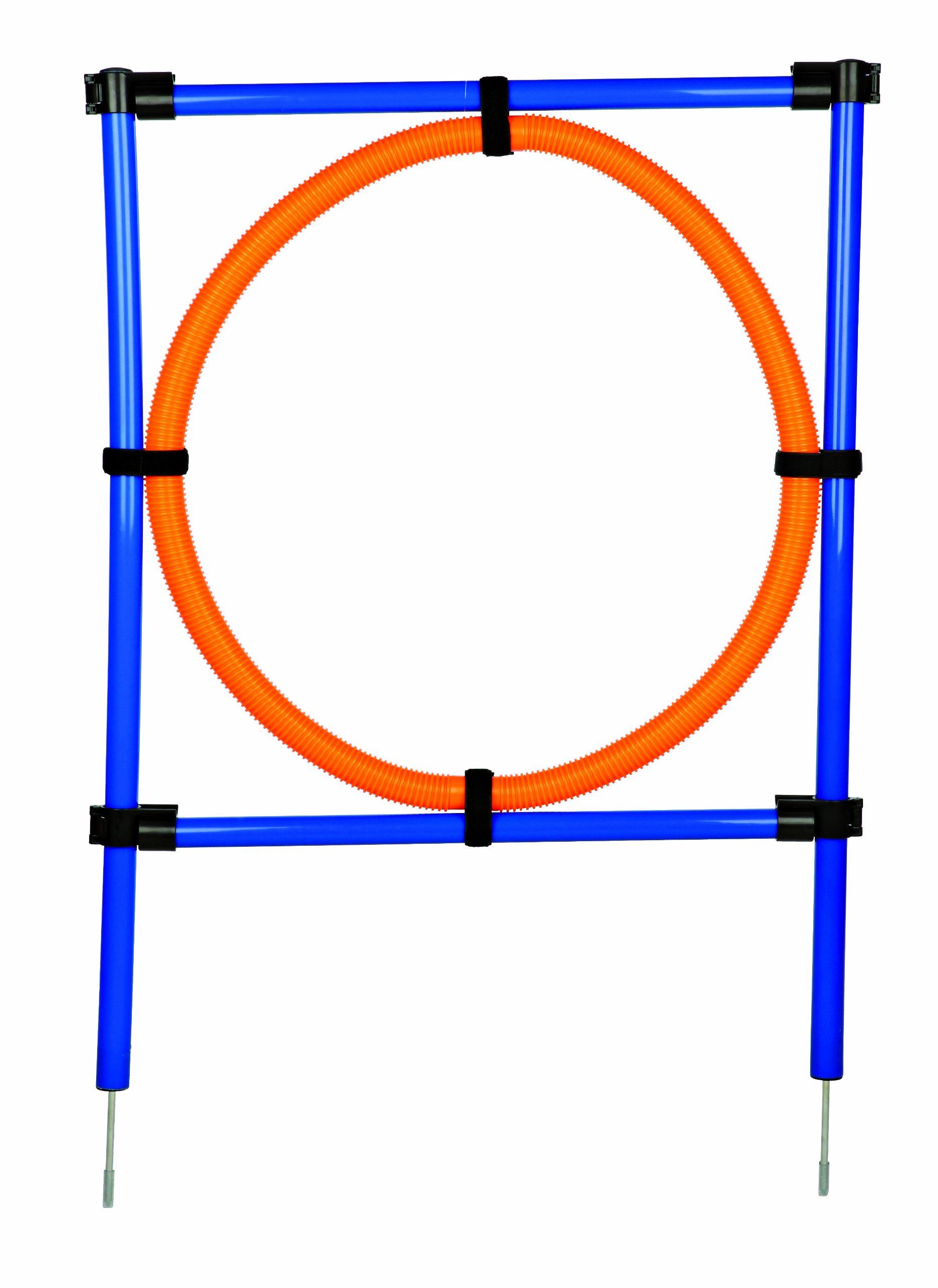 Trixie Dog Activity Agility Ring, 115 ラ 3 cm 65 cm, Orange/ Blue
