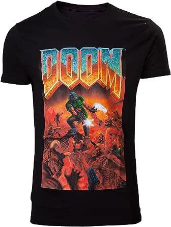 DOOM Classic Boxart Uomo T-Shirt Nero Regular