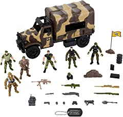 True Heroes Troop Transporter Playset