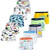 JackLoveBriefs Calzoncillos Bóxer de algodón para Niños 2-10 años (Pack de 10)