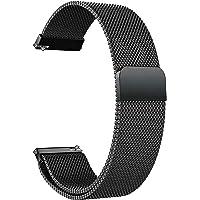 Acm Watch Strap Magnetic Loop 22mm Compatible with Fossil Gen 5 Garrett Hr Smartwatch Luxury Metal Chain Band Black