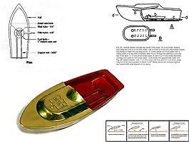 Kriwin Metal Poppop Puttputt Phatphat Boat (Multicolour)