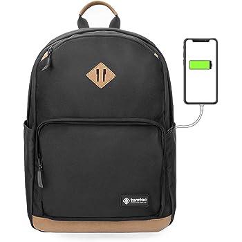 tomtoc Anti-vol Sac à Dos PC Portable de 15.6 Pouces Sac de Voyage Léger  20L Sac d école avec Port de Chargement USB Backpack pour Randonnée Voyage  Scolaire ... 8f5e66b5c95
