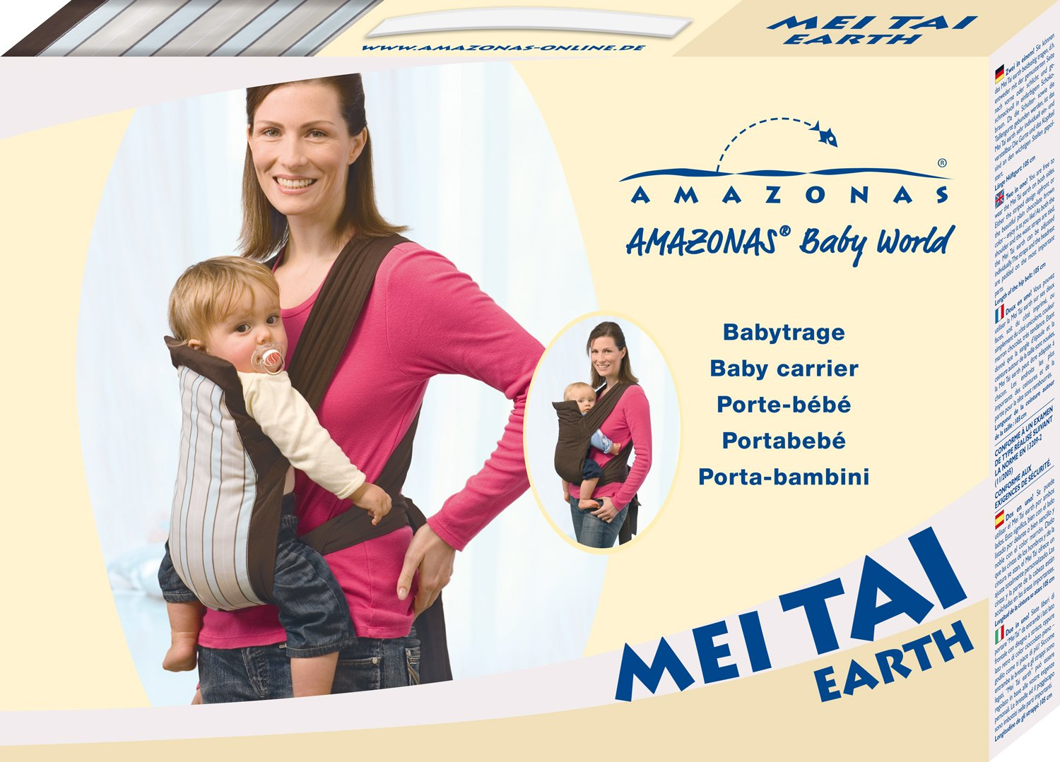 Amazonas Mei Tai Asian Traditional Baby Carrier  Available in 2 designs Carrier can be reversed Easy to put on 12