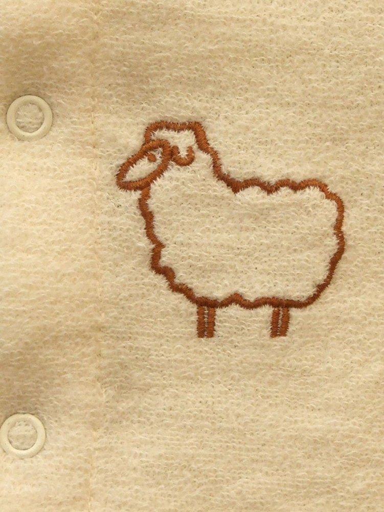 Engel – Pijama de una sola pieza con pies cubiertos, 100 % lana de merino, talla 50/56–98/104, 3colores naturaleza 74 cm/80 cm