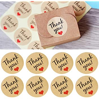 120 Pcs Thank You Craft Paper Sealing Stickers Self-Adhesive Stickers  Wedding Favours Letter Sticker 0fcbe82934ab
