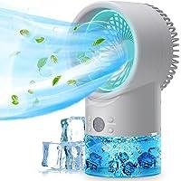 Climatiseur portatif de refroidisseur d'air, climatiseur de table 3 en 1 unité fraîche Mini climatiseur personnel…