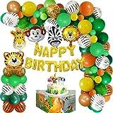 Globos Decoraciones Cumpleaños Selva,Fiesta Cumpleaños Animales Safari de Latex y Safari Bosque Animal globos para Niño Cumpl
