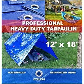 Tarpualin Blue Heavy Duty Tarp Cover Waterproof 5.3m x 7m 18 ft x 24ft