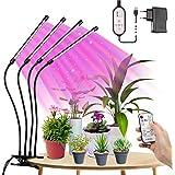 LED-Växtlampa Fullspektrum 80W, Tasmor 80LEDs Dimbar Grow Light, Tillväxtlampa för Inomhusplantor Med Timing LED-Odlingslampa