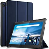 ProElite Ultra Sleek Smart Flip Case Cover for Lenovo Tab M10 FHD REL TB-X605LC TB-X605FC Tablet (Navy Blue) [Will NOT Fit Mo