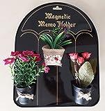 MASOOM Set of 3 Decorative Flowers/Fruit Fridge Magnets [Colours & Design May Vary]