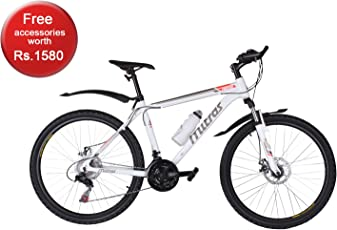 Mitras Propane Aluminum 26 inches (White) 21 Speed Shimano Gears - Hardtail Women Mountain Bicycle
