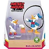 Bullyland 15084 – Juego de Figuras de Juguete, Walt Disney Mickey Mouse, Donald y Daisy, Figuras pintadas a Mano, sin PVC, Re