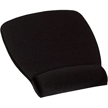 3M MW209MB Mouse Pad with Wrist Rest (Black)