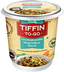 Tiffin-To-Go Vegetable Dalia. Broken wheat cooked with vegetables & mild seasoning