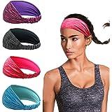 Linlook Sportpannband för kvinnor – svettband för yoga, löpning, träning, fitness, träning, tennis, gym, cykling, vandring, v