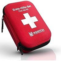 Winston Protection ® Erste Hilfe Set - Erste Hilfe im umfangreichen Set mit Pinzette und Zeckenzange - Inhalt nach DIN…