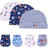 Kiddiezoom Manopla de algodón para bebés y niñas, paquete de 10 guantes de algodón suave para bebés, guantes para arañazos, g