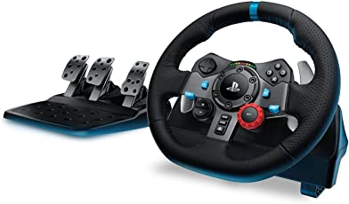 Logitech G29 Volante da Corsa Driving Force, (PS4/PS3/PC), Nero