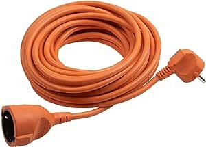 Meister Schutzkontakt Verlängerung 25 M Kabel Orange Kunststoffleitung Ip20 Innenbereich Kupplung Mit Berührungsschutz Schuko Verlängerung 7433250 Baumarkt