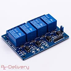 AZDelivery ⭐⭐⭐⭐⭐ 4-Relais Modul 5V mit Optokoppler Low-Level-Trigger für Arduino