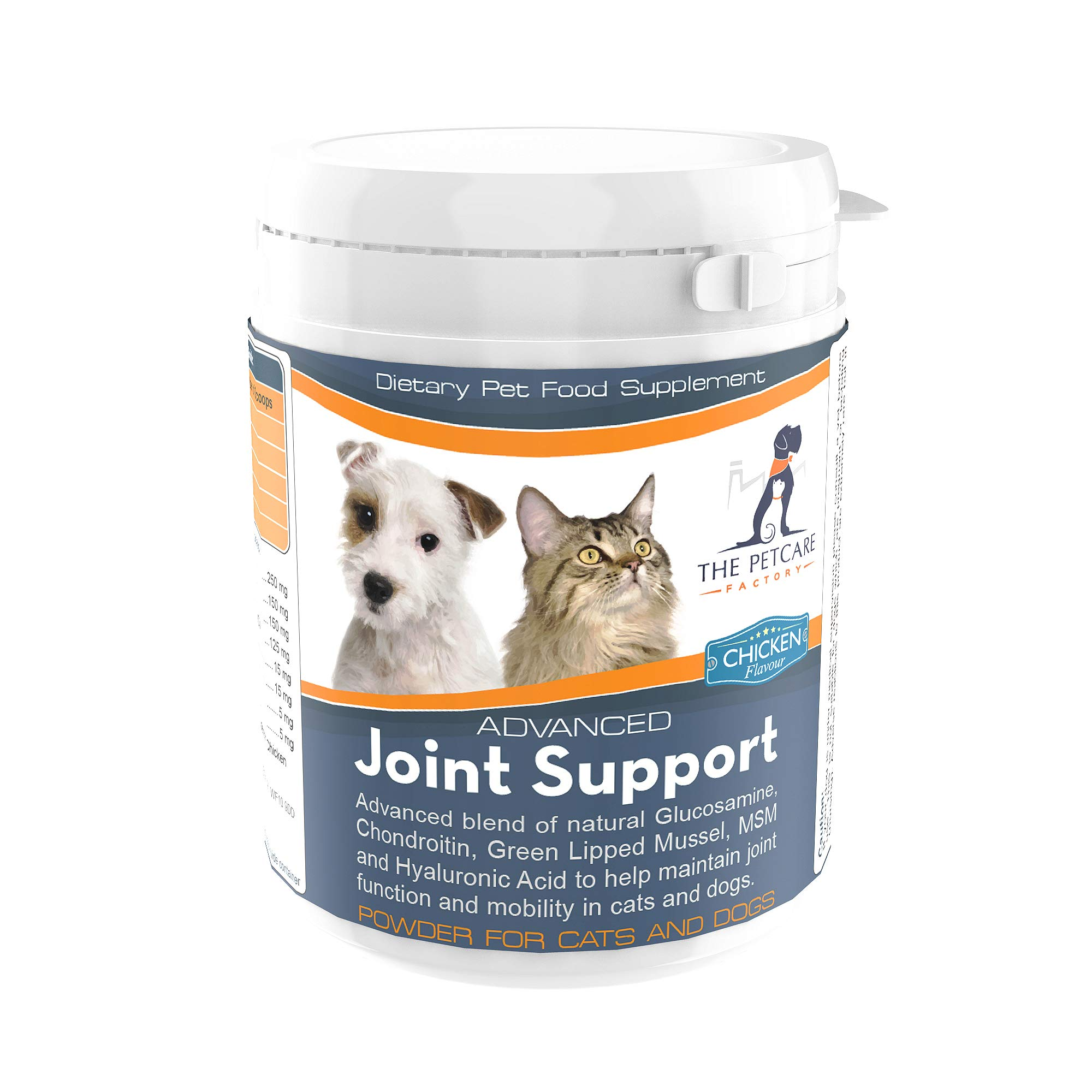 Advanced Joint Support Supplement Powder For Cats & Dogs, With Powerful Glucosamine, Chondroitin, Green Lipped Mussel…