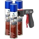 AUPROTEC Convertisseur de Rouille Rostinator Peinture antirouille Spray anticorrosif 3X 400 ML + 1x poignée Originale pour Bo