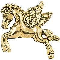 Paranoid Golden/Silver Stallion Brooch for Men's