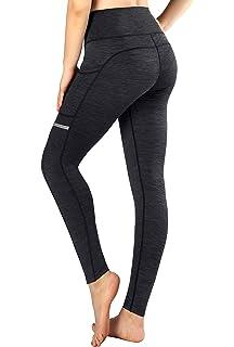 Munvot Legging de Sport Femme Taille Haute Collants Running Poches Pantalon  Amincissant… 8c647be3594