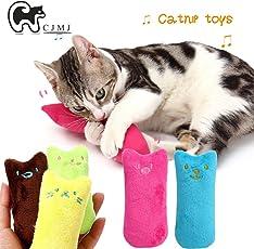 Katzenminze Plüsch Spielzeug,CJMJ katzen Kauen Kissen Spielzeug/100% Catnip Füllung (5 /Set)
