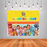 WoW Party Studio Birthday Party Decoration Cocomelon Theme Background / Backdrop Banner - 4ft x 5ft